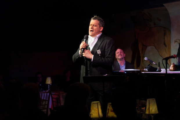 Isaac Mizrahi performs in Does This Song Make Me Look Fat?, music directed by Ben Waltzer (background), at Café Carlyle.
