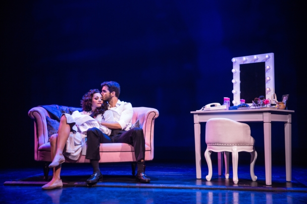 Ana Villafañe and Ektor Rivera as Gloria and Emilio Estefan in Broadway's On Your Feet!