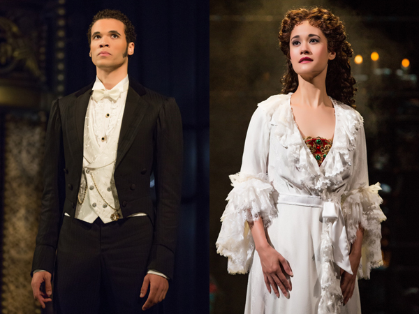 Jordan Donia and Ali Ewoldt currently star as Raoul and Christine Daaé in The Phantom of the Opera on Broadway.