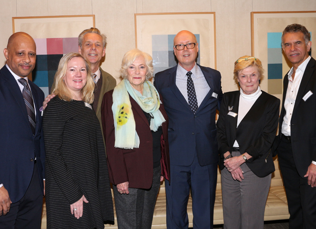 Theatre Forward's Bruce Whitacre joins his Broadway Roundtable panelists for a photo.