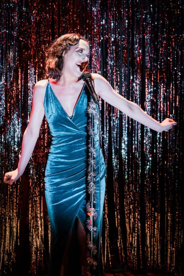 Natalie Walker as Sally Bowles in Cabaret at the Secret Theater.