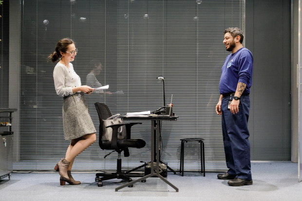 Annie Dow and Eddie Martinez star in Tanya Saracho's Fade, directed by Jerry Ruiz, for Primary Stages at the Cherry Lane Theatre.