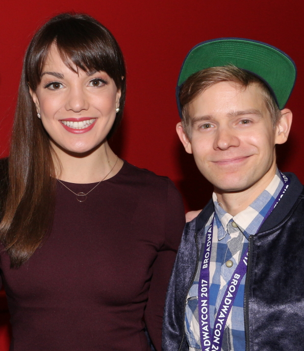Kara Lindsay and Andrew Keenan-Bolger take on the roles of Katherine and Crutchie in the new live film of Broadway's Newsies.