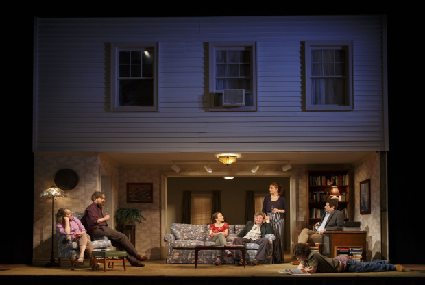 The cast of If I Forget, directed by Daniel Sullivan, at Roundabout Theatre Company's Laura Pels Theatre.