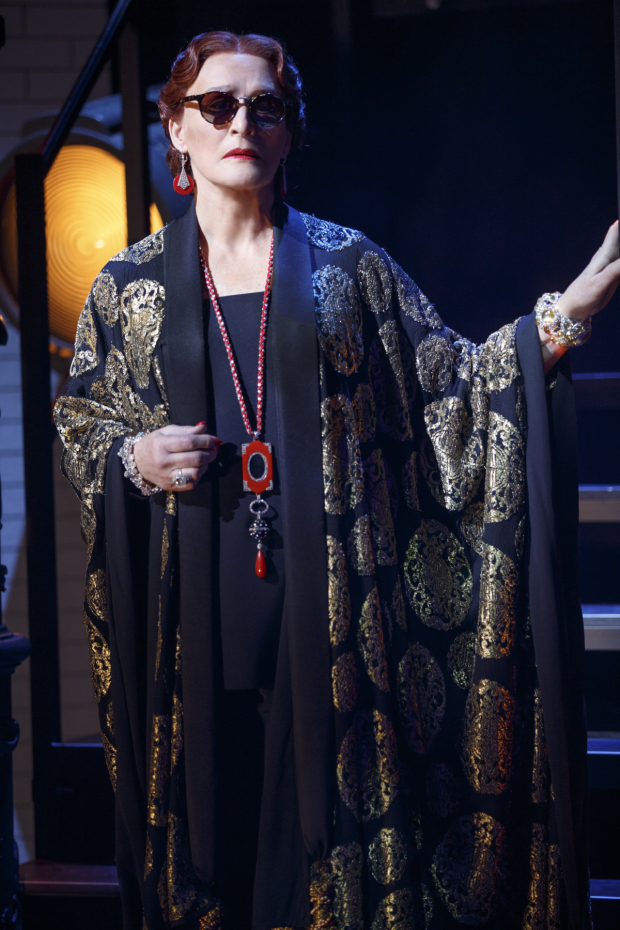 Glenn Close as Norma Desmond in the 2017 Broadway revival of Sunset Boulevard, directed by Lonny Price, at the Palace Theatre.
