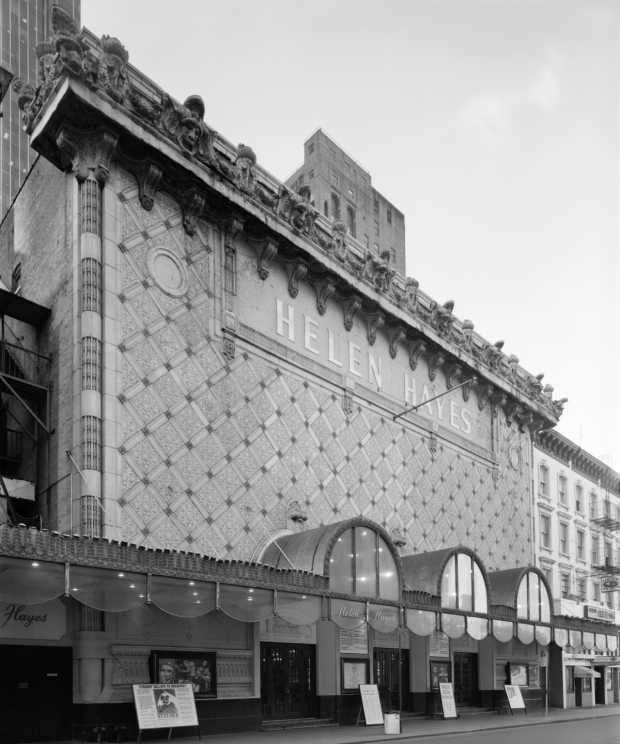 Iconic for its ornate facade, the Fulton Theatre spent the latter part of its existence as the Helen Hayes Theatre.