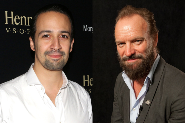 Lin-Manuel Miranda and Sting will perform at this year's Oscars.