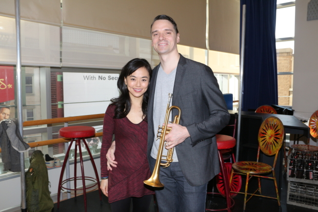 Minami Yusui and Dan Urness in the rehearsal space for Broadway's Miss Saigon.