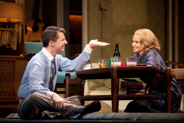 Sean Hayes and Kristin Chenoweth in Promises, Promises.