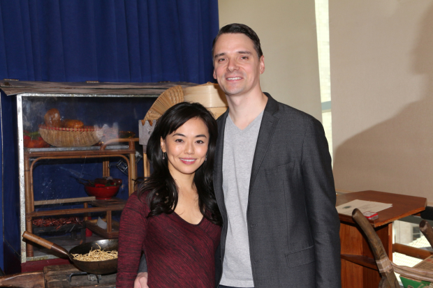 Minami Yusui and Dan Urness celebrate their relationship and Broadway's Miss Saigon at the show's midtown rehearsal space.