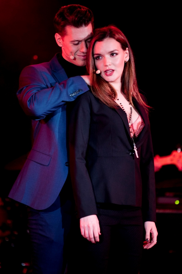 Constantine Rousouli and Jennifer Damiano star in Cruel Intentions: The Musical, directed by Lindsey Rosin, at (Le) Poisson Rouge.