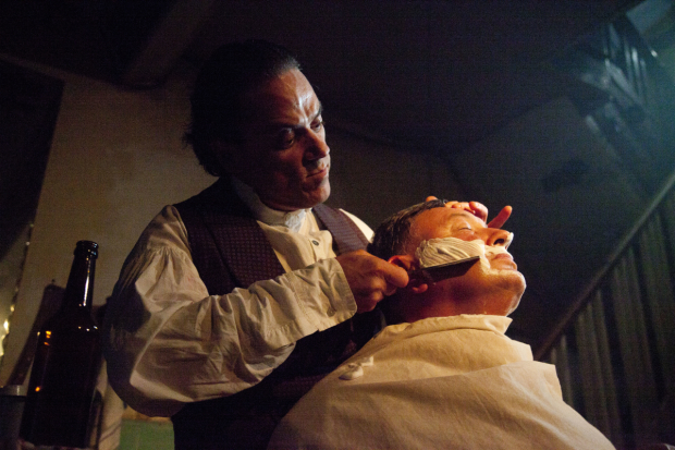 Sweeney Todd's Jeremy Secomb and Duncan Smith in a scene from the production.