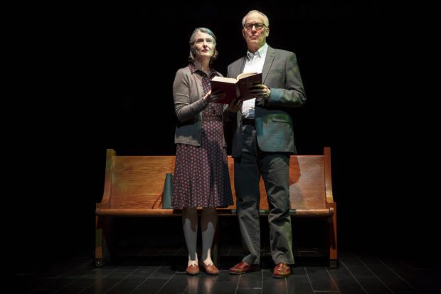 Annette O'Toole and Reed Birney star in Tracy Letts' Man From Nebraska, directed by David Cromer, at Second Stage Theatre.