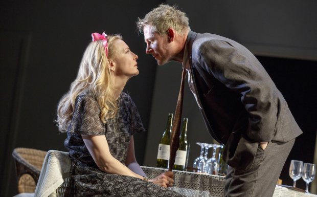 Cate Blanchett and Richard Roxburgh in a scene from Broadway's The Present.