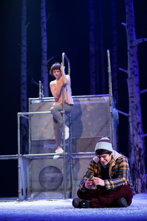 Lucy Mangan and Cristian Ortega star in Let the Right One In, directed by John Tiffany, at the Alley Theatre.