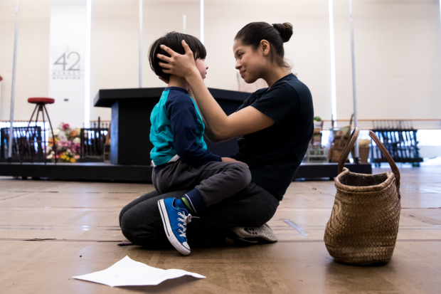 Eva Noblezada (right) stars with Gregory Ye (left) in Miss Saigon, directed by Laurence Connor, beginning March 1 at the Broadway Theatre.