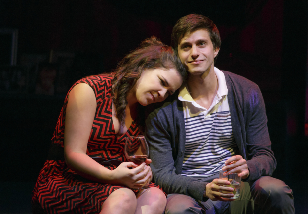 Lindsay Mendez and Gideon Glick in the off-Broadway production of Significant Other.