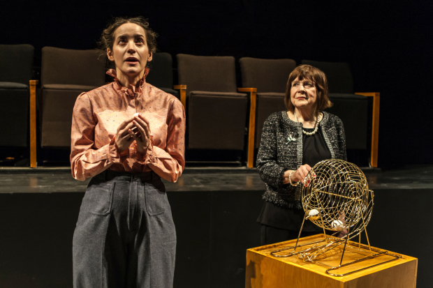 Brooke Bloom draws her role from Death (Marylouise Burke) in Branden Jacobs-Jenkins' Everybody, directed by Lila Neugebauer, at Signature Theatre.