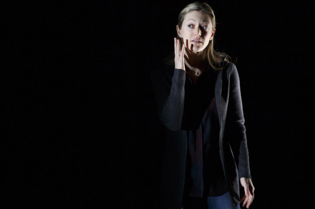 Marin Ireland stars in Martín Zimmerman's solo play On the Exhale.