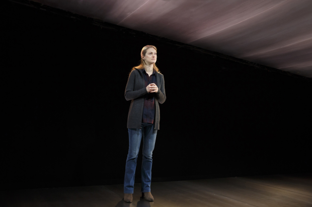 Marin Ireland stars in Martín Zimmerman's On the Exhale, directed by Leigh Silverman, at Roundabout Underground.
