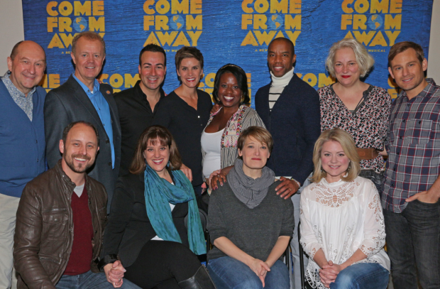 Cast members of Come From Away.