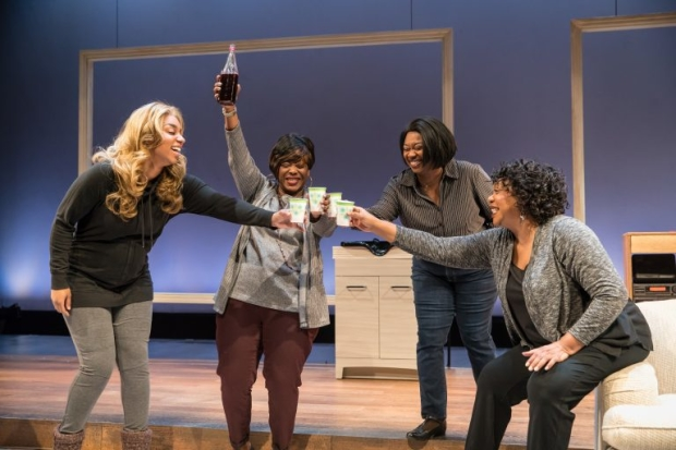Camille Robinson, Greta Oglesby, Donica Lynn, and Jacqueline Williams in A Wonder in My Soul, directed by Chay Yew, at Victory Gardens Theater.