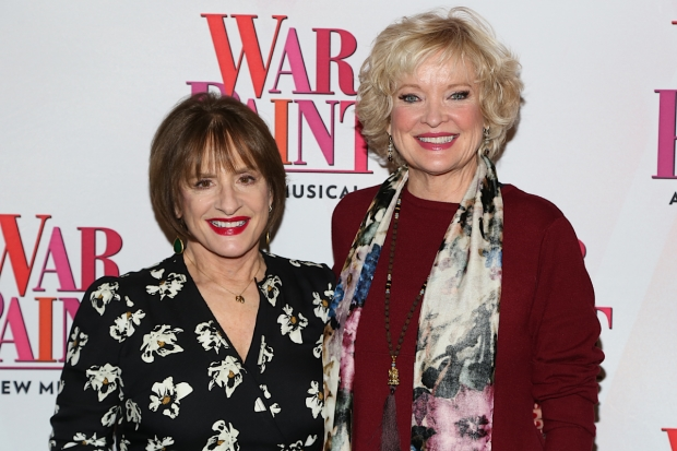 Patti LuPone and Christine Ebersole star in War Paint, directed by Michael Greif, playing on Broadway a the  Nederlander Theatre beginning March 7.