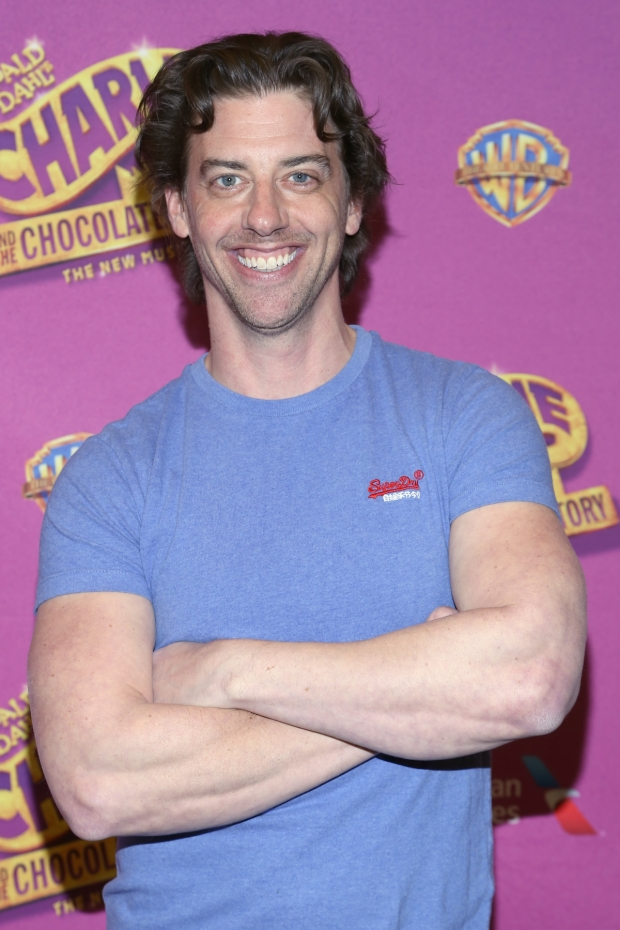 Christian Borle smiles for the press as he gets ready to play Willy Wonka in Charlie and the Chocolate Factory.