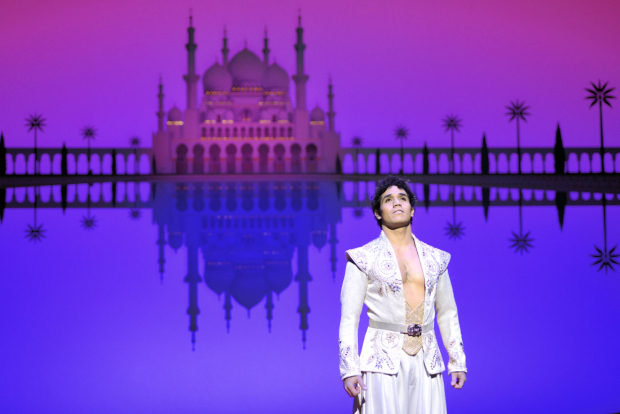 Adam Jacobs in Aladdin on Broadway.