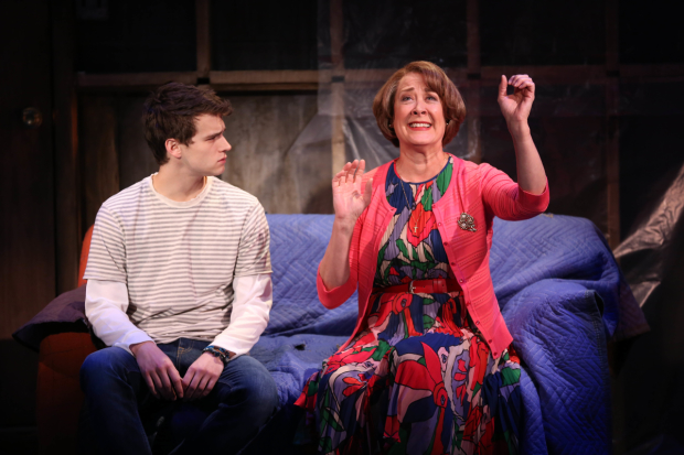Brandon Flynn and Karen Ziemba star in Kid Victory at the Vineyard Theatre.
