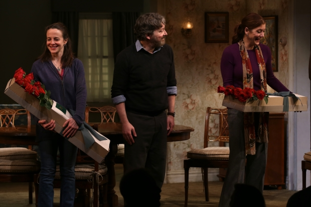 Maria Dizzia, Jeremy Shamos, and Kate Walsh lead the cast of Steven Levenson's If I Forget, directed by Daniel Sullivan, at Roundabout Theatre Company.