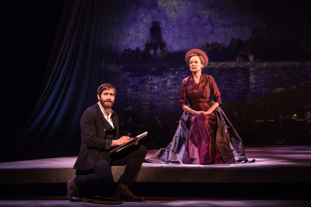 Jake Gyllenhaal and Penny Fuller star in Sunday in the Park With George on Broadway.