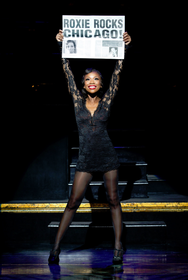 Brandy Norwood in Chicago on Broadway.