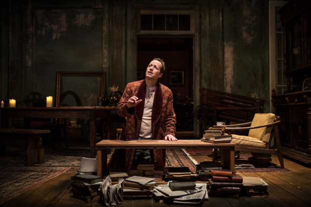 Tim Hopper as Vanya in the Chicago premiere of Annie Baker's adaptation of Anton Chekhov's Uncle Vanya, directed by Robert Falls, at the Goodman Theatre.