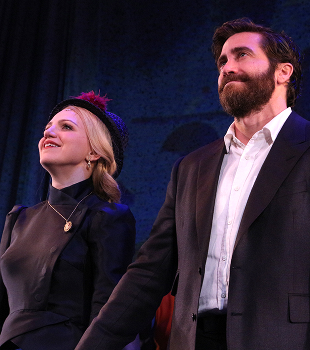 Annaleigh Ashford and Jake Gyllenhaal take their bows as Sunday in the Park With George opens on Broadway.