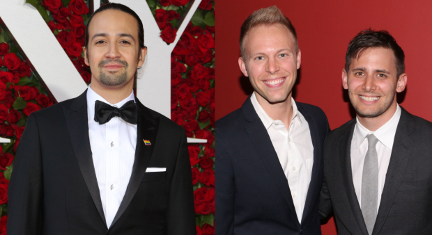 Lin-Manuel Miranda is nominated in the Best Original Song category alongside Justin Paul and Benj Pasek.