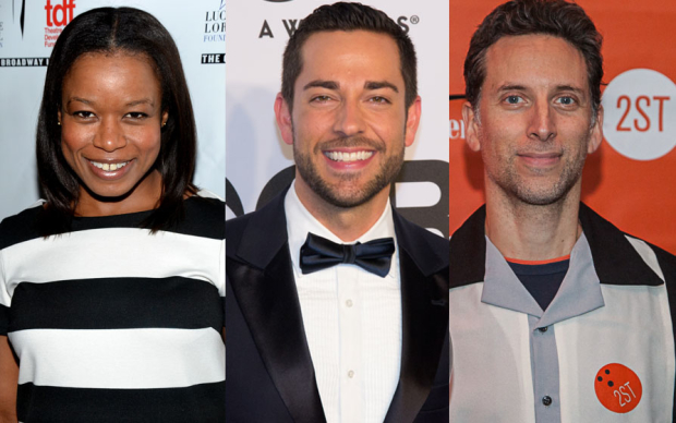Quincy Tyler Bernstine, Zachary Levi, and Ben Shenkman will perform an industry reading of Stand. Up. at the Vineyard Theatre.