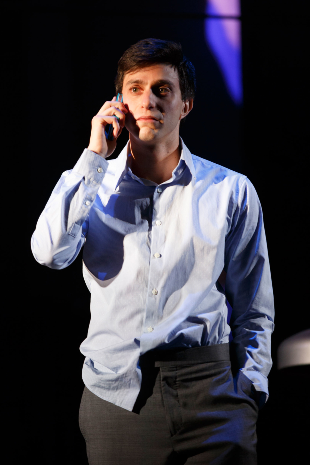 Gideon Glick stars as Jordan in Significant Other, directed by Trip Cullman, at Broadway's Booth Theatre.