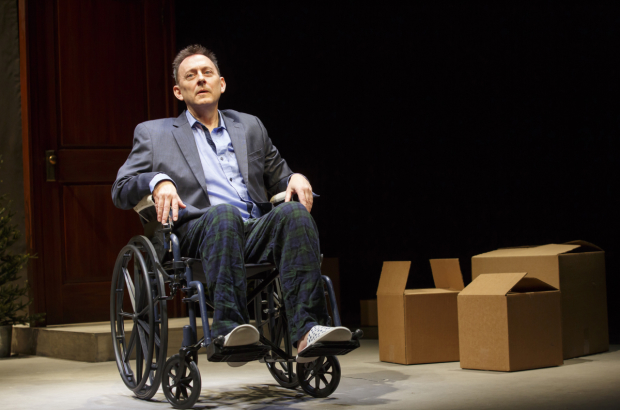 Michael Emerson in Wakey, Wakey, written and directed by Will Eno, at the Pershing Square Signature Center.