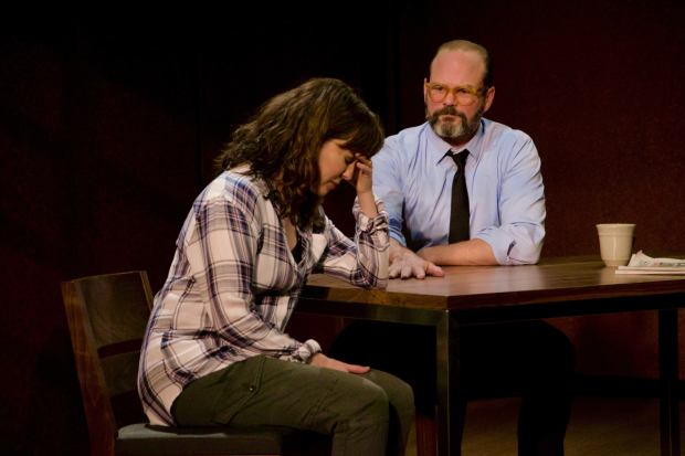 Rebecca Pidgeon plays Kath, and Chris Bauer plays Charles in The Penitent.