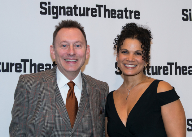 Costars Michael Emerson and January LaVoy celebrate opening night of Wakey, Wakey, written and directed by Will Eno.