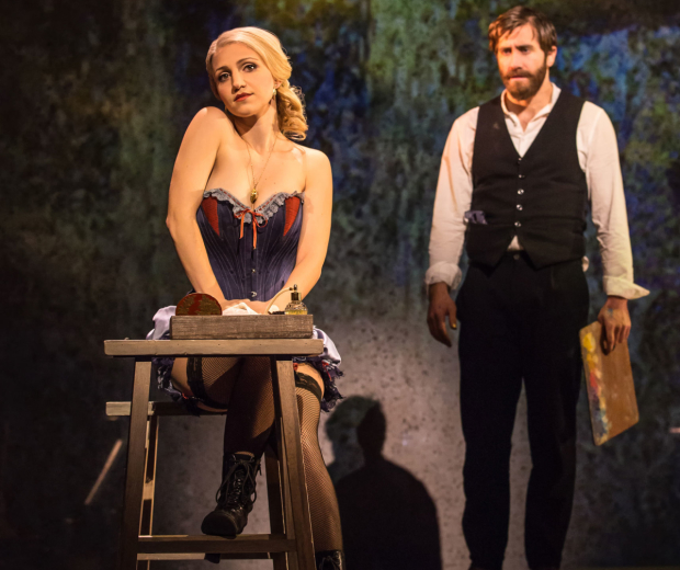 Annaleigh Ashford and Jake Gyllenhaal in Sunday in the Park With George at the Hudson Theatre.