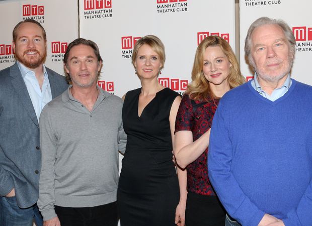 Darren Goldstein, Richard Thomas, Cynthia Nixon, Laura Linney, and Richard Thomas star on Broadway in The Little Foxes.