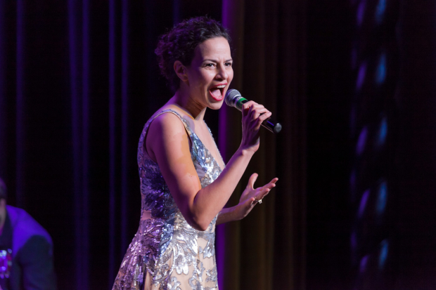 Mandy Gonzalez commands the stage at Broadway Sings For PFF!