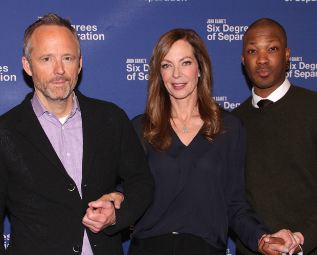 John Benjamin Hickey, Allison Janney, and Corey Hawkins star in Six Degrees of Separation on Broadway.