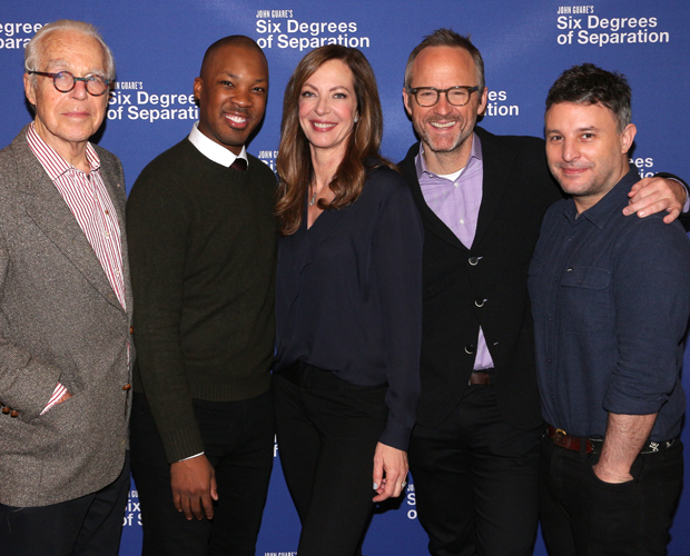 John Guare, Corey Hawkins, Allison Janney, John Benjamin Hickey, and Trip Cullman bring Six Degrees of Separation back to Broadway.