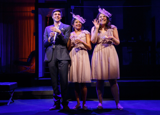 Gideon Glick, Rebecca Naomi Jones, and Lindsay Mendez in Joshua Harmon's Significant Other, directed by Trip Cullman.