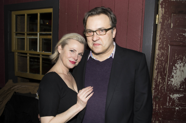 Angelica Page and Dmitry Lipkin on opening night of Turning Page at Dixon Place.