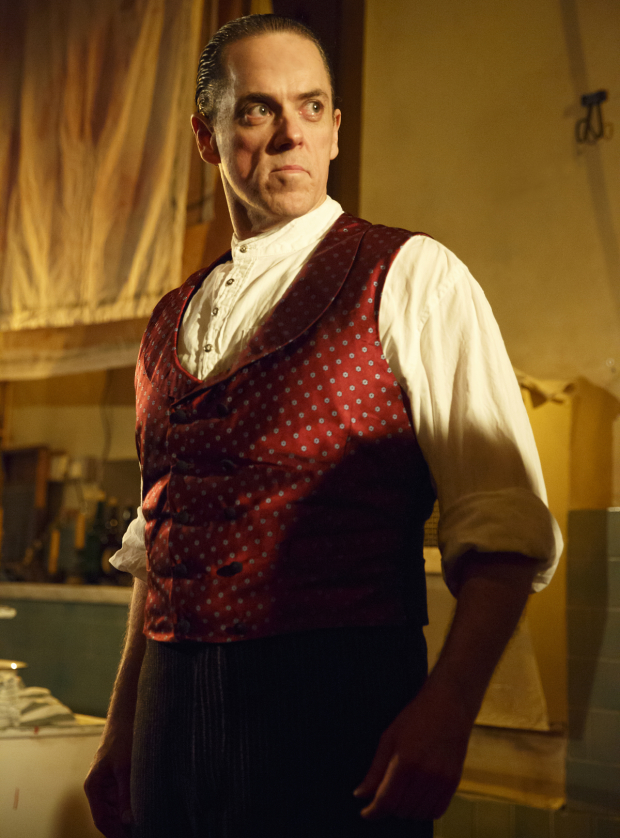 Jeremy Secomb plays the title character in Sweeney Todd at the Barrow Street Theatre.