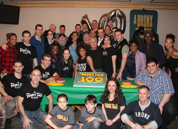Happy 100th performance to the cast and creative team of A Bronx Tale!